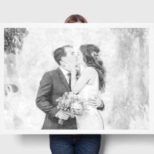 graphic-wedding-#1235-custom-canvas-print