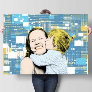 binary-graphic-portrait #10523 pop art custom canvas print