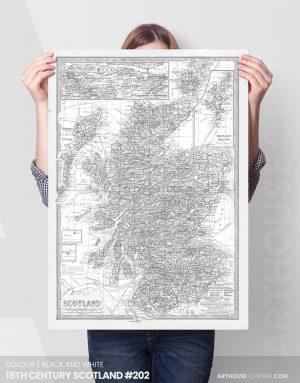 18th-century-scotland-#202-sample-view-custom-wall-map-canvas-print