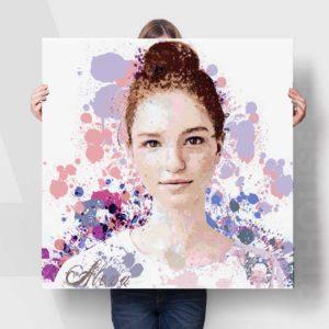 colour splash graphic portrait #10484