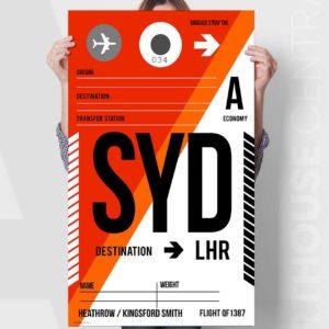sydney-lhr-master-custom-flight-baggage-tag-canvas-print