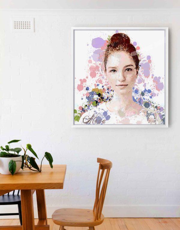 colour splash graphic portrait #10484 room view