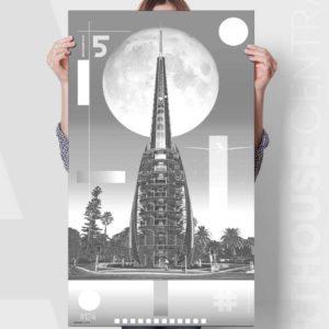 perth-bell-tower-1124-colour-monochrome-custom-canvas-print