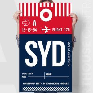 red-navy-lhr-master-custom-flight-baggage-tag-canvas-print