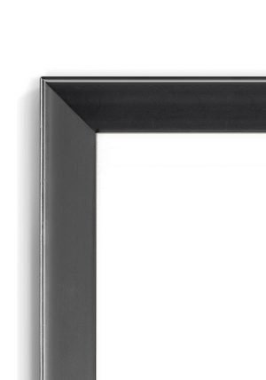 Bevelled Retro Black - #B133 - black picture frame - Closeup View