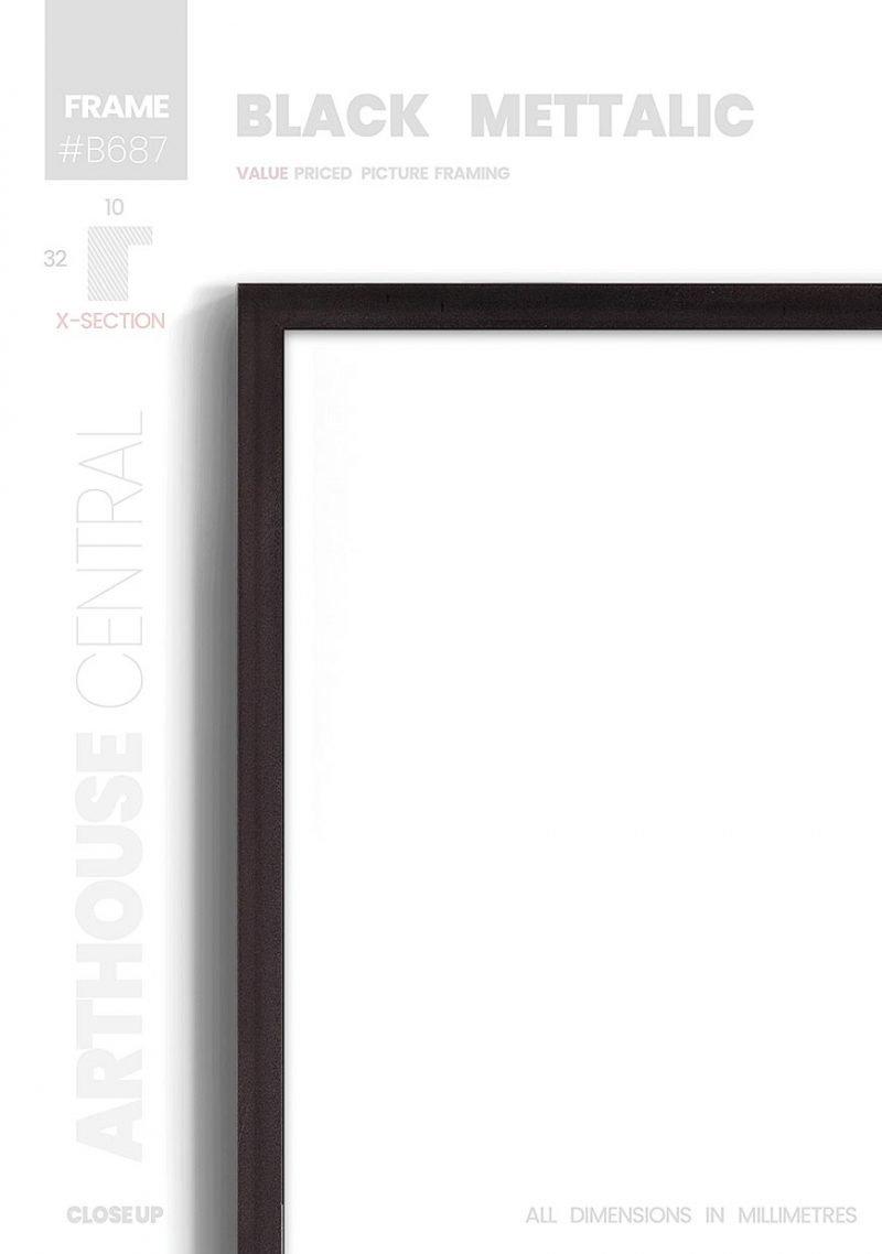 Black Metallic - #B687 - black picture frame - Details View