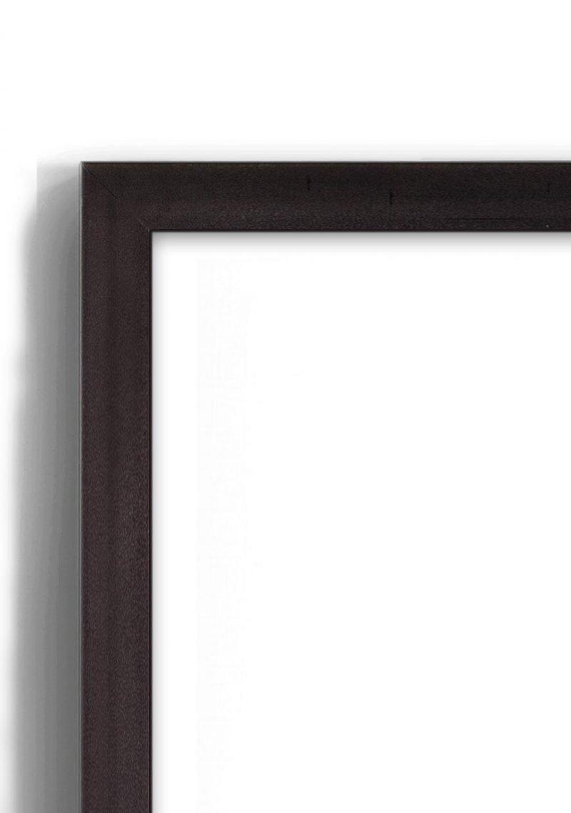 Black Metallic - #B687 - black picture frame - Closeup View