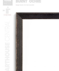 Burnt Ochre - #B723 - black picture frame - Details View