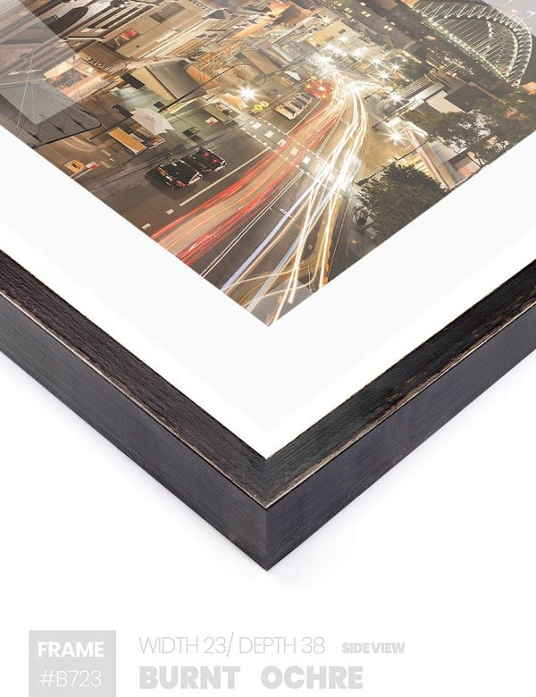 Burnt Ochre - #B723 - black picture frame - Side View