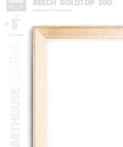 Beech Goldtop 30D - #BT24 - timber picture frame - Details View