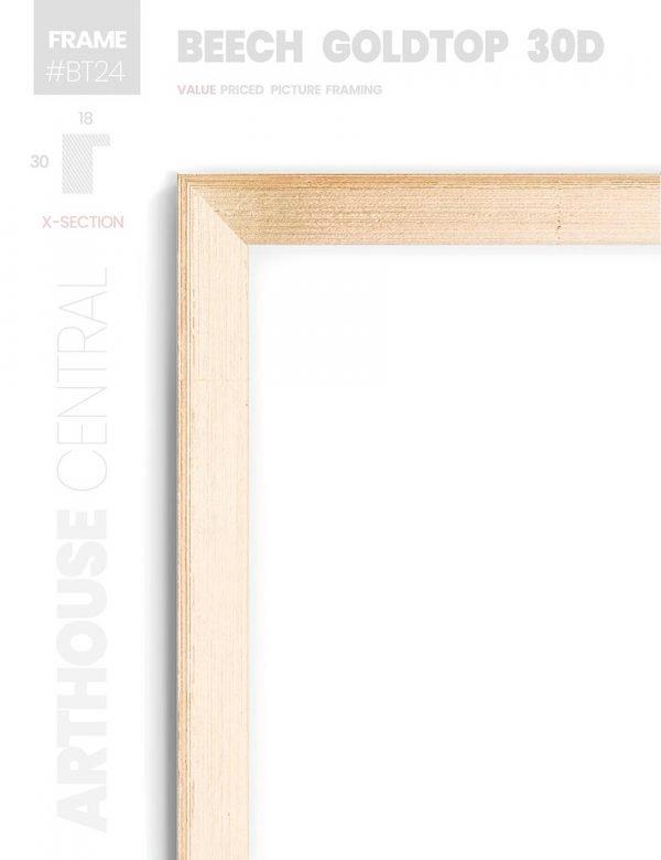 Beech Goldtop 30D - #BT24 - timber picture frame - Details View
