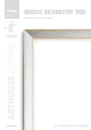 Beech Silvertop 30D - #BT27 - timber picture frame - Details View