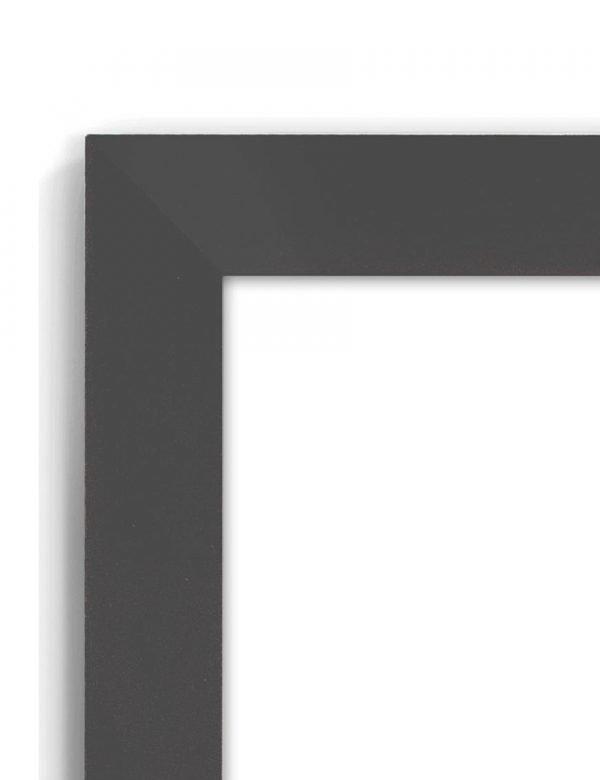 Beech Blacktop 45D - #BT32 - black picture frame - Closeup View