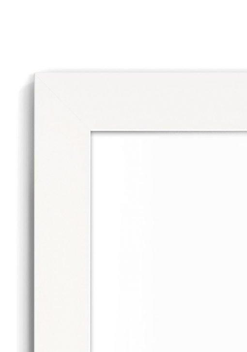 Matt White 2020 - #W620 - white picture frame - Closeup View