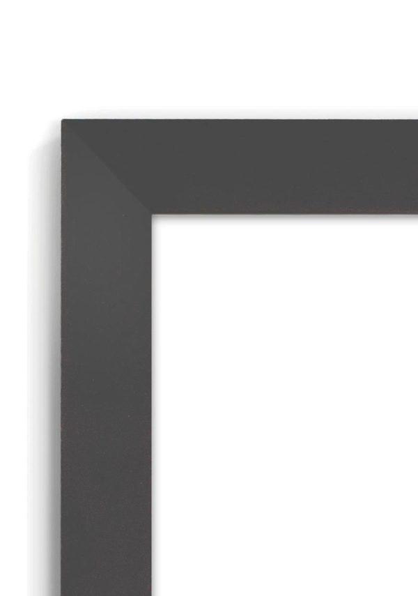Matt Black 2020 - #B620 - black picture frame - Closeup View