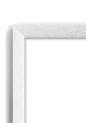 Brushed Nickel Slim - #M233 - metallic picture frame - Closeup View