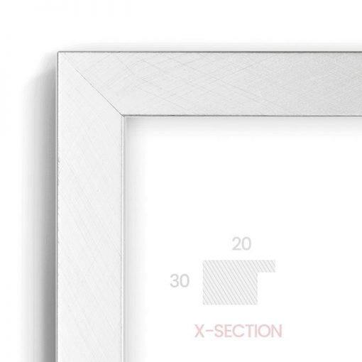 Brush Foil Standard - #M277 - metallic picture frame - Closeup View