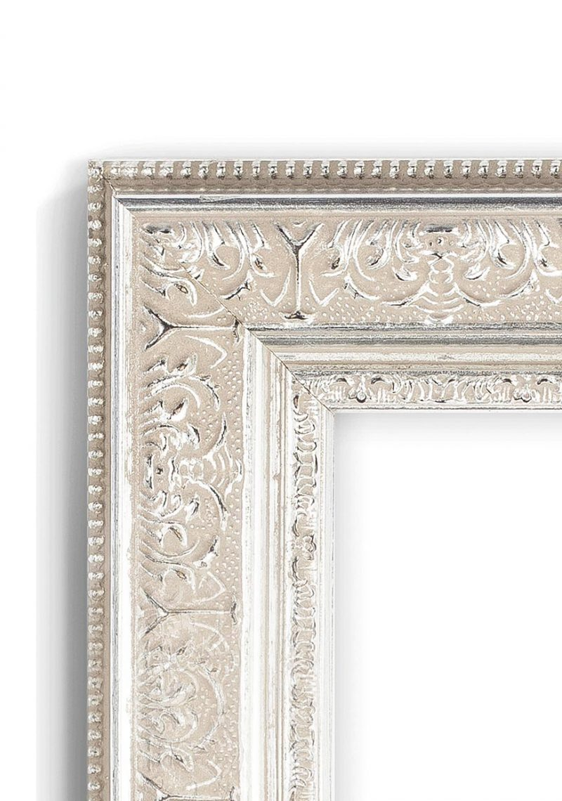 Silver Ornate - #M422 - metallic picture frame - Closeup View