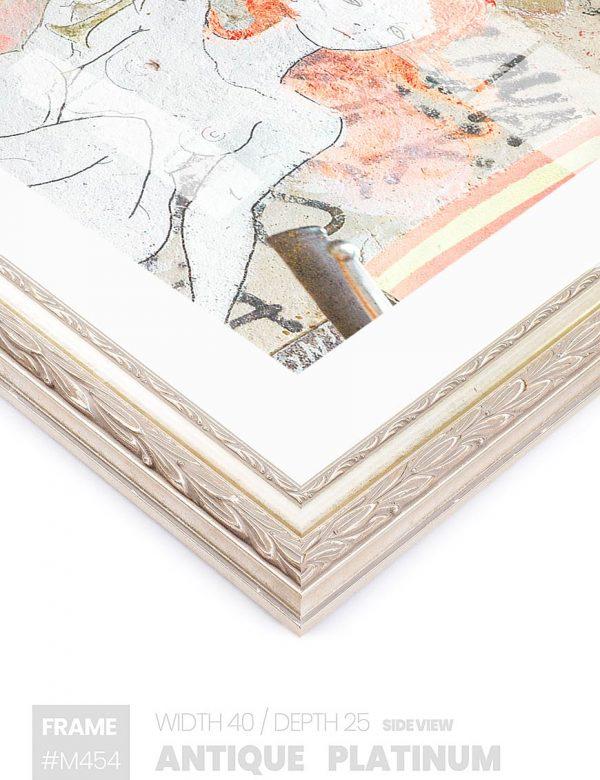 Antique Platinum - #M454 - metallic picture frame - Side View