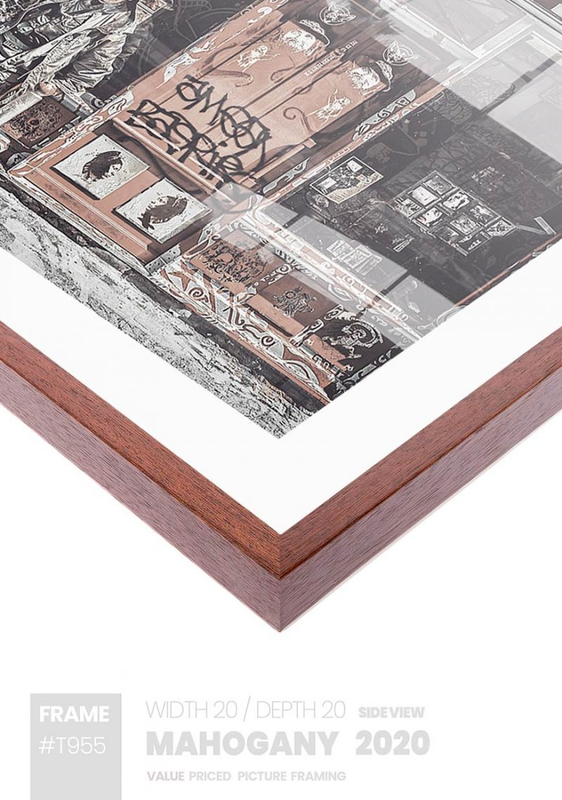 Mahogany 2020 - #T955 - timber picture frame - Side View