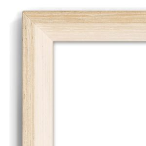 Bevelled Oak - #T237 - timber picture frame - Closeup View