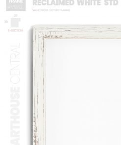 Reclaimed White Standard - #VW12 - white picture frame - Details View