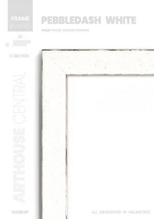Pebbledash White - #VW45 - white picture frame - Details View