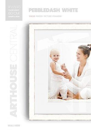 Pebbledash White - #VW45 - white picture frame - Wall View