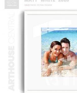 Matt White 2020 - #W620 - white picture frame - Wall View