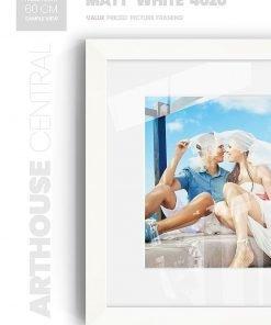 Matt White 4020 - #W660 - white picture frame - Wall View