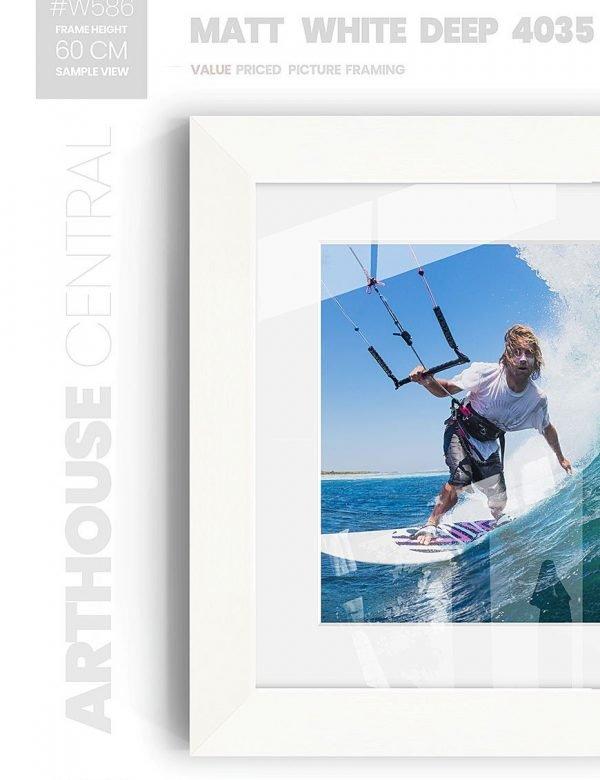Matt White - #W987 - white picture frame - Wall View