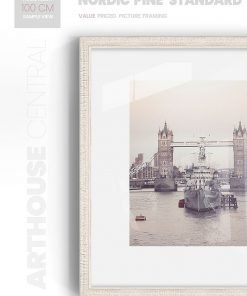 Nordic Pine Wide - #WV41 - white picture frame - Wall View