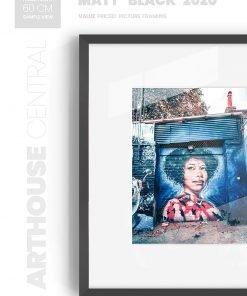 Matt Black 2020 - #B620 - black picture frame - Wall View
