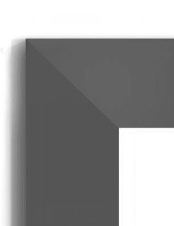 Matt Black 6020 - #B987 - black picture frame - Closeup View