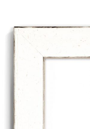 Pebbledash White - #VW45 - white picture frame - Closeup View