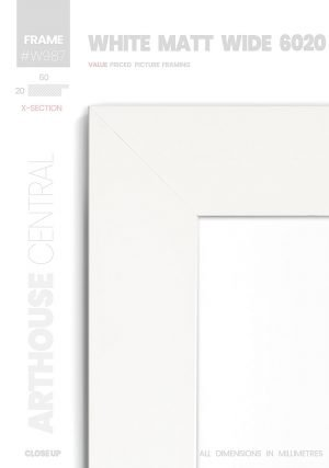 Matt White - #W987 - white picture frame - Details View