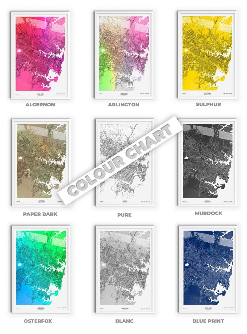 Ebay Maps Colour Chart Flat