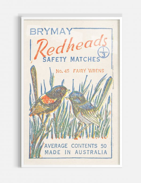 Fairy Wrens White Frame